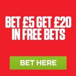 Ladbrokes Sports Get £20 in Free Bets